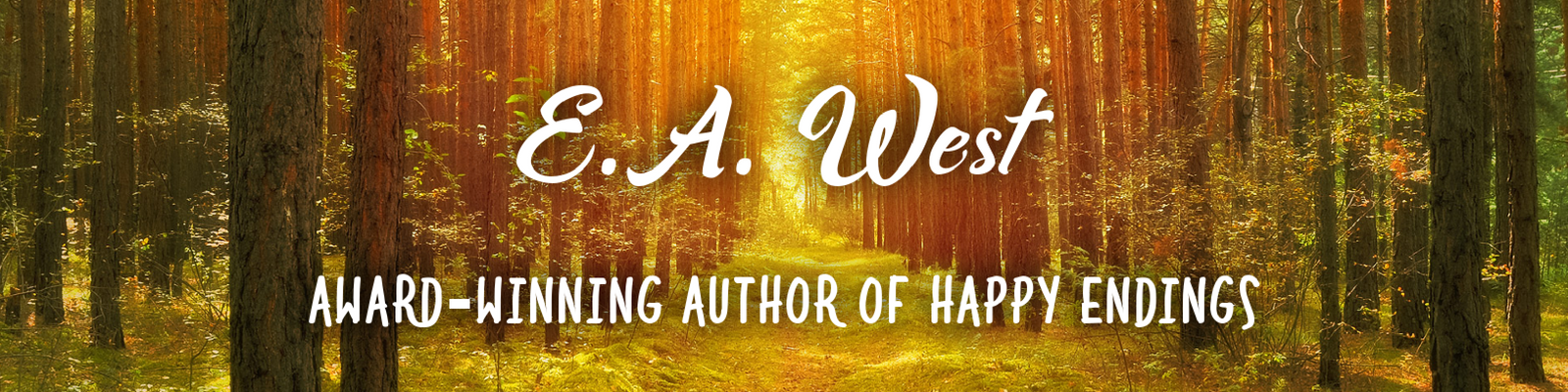 E.A. West website header